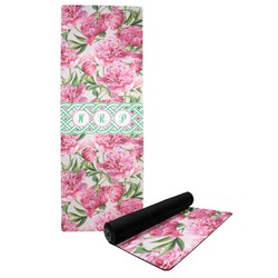 Watercolor Peonies Yoga Mat (Personalized)