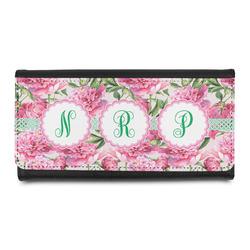 Watercolor Peonies Leatherette Ladies Wallet (Personalized)