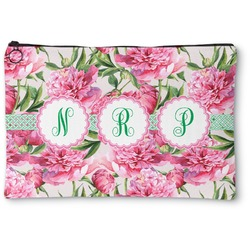 Watercolor Peonies Zipper Pouch (Personalized)