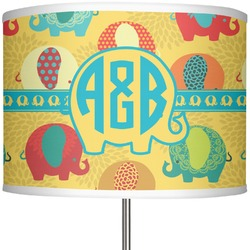"Cute Elephants 13"" Drum Lamp Shade (Personalized)"