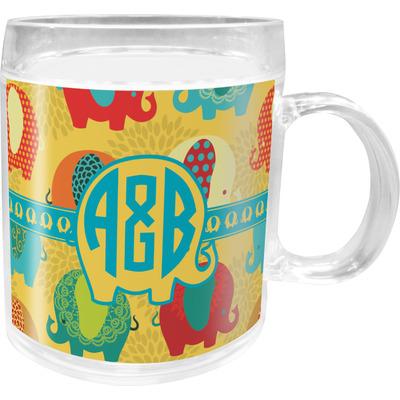 Cute Elephants Acrylic Kids Mug (Personalized)
