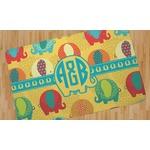 Cute Elephants Area Rug (Personalized)