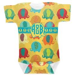 Cute Elephants Baby Bodysuit (Personalized)