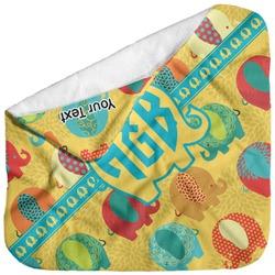 Cute Elephants Baby Hooded Towel (Personalized)