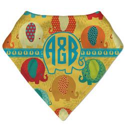 Cute Elephants Bandana Bib (Personalized)