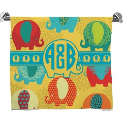 Cute Elephants Bath Towel (Personalized)