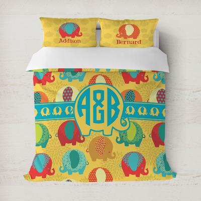 Cute Elephants Duvet Cover (Personalized)