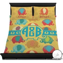 Cute Elephants Duvet Cover Set (Personalized)