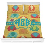 Cute Elephants Comforter Set (Personalized)