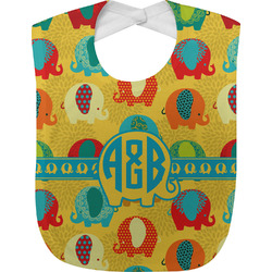 Cute Elephants Baby Bib (Personalized)