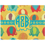 Cute Elephants Placemat (Fabric) (Personalized)