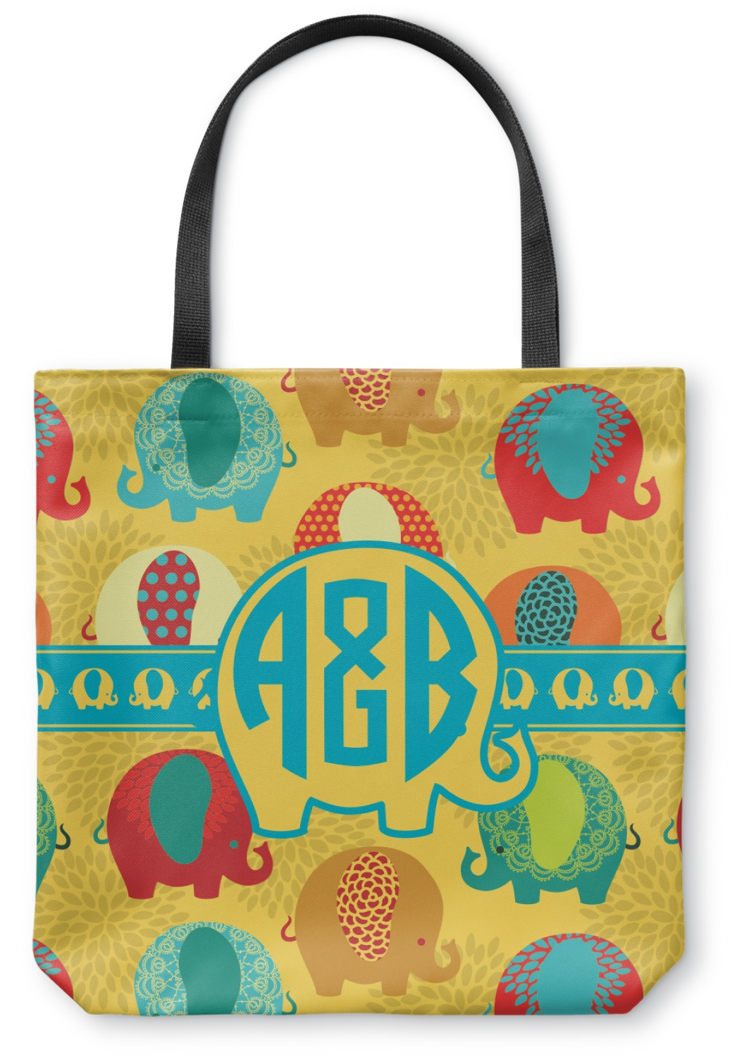 cute elephants canvas tote bag large 18quotx18