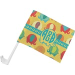 Cute Elephants Car Flag (Personalized)
