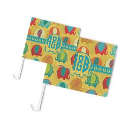 Cute Elephants Car Flag (Personalized)