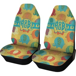 Cute Elephants Car Seat Covers (Set of Two) (Personalized)