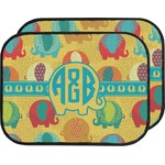 Cute Elephants Car Floor Mats (Back Seat) (Personalized)
