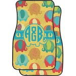 Cute Elephants Car Floor Mats (Front Seat) (Personalized)