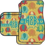 Cute Elephants Car Floor Mats (Personalized)
