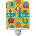 Cute Elephants Ceramic Night Light (Personalized)