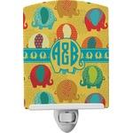 Cute Elephants Ceramic Night Light (Personalized)