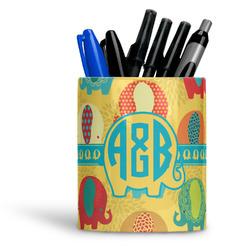 Cute Elephants Ceramic Pen Holder