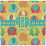 Cute Elephants Ceramic Tile Hot Pad (Personalized)