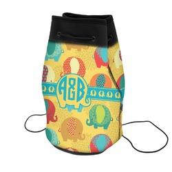 Cute Elephants Neoprene Drawstring Backpack (Personalized)
