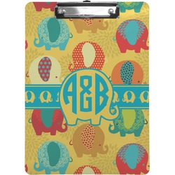 Cute Elephants Clipboard (Personalized)