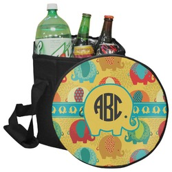 Cute Elephants Collapsible Cooler & Seat (Personalized)