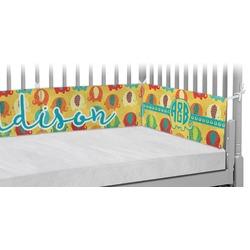 Cute Elephants Crib Bumper Pads (Personalized)