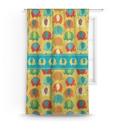 Cute Elephants Curtain (Personalized)