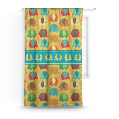 Cute Elephants Custom Sized Curtain Panel (Personalized)