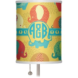 "Cute Elephants 7"" Drum Lamp Shade (Personalized)"
