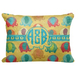"Cute Elephants Decorative Baby Pillowcase - 16""x12"" (Personalized)"