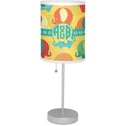 "Cute Elephants 7"" Drum Lamp with Shade (Personalized)"