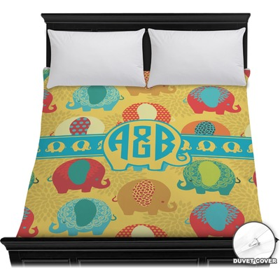 Cute Elephants Duvet Cover (Personalized)