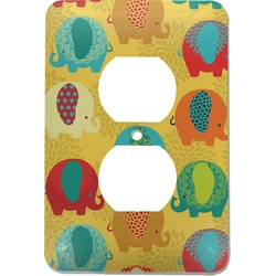 Cute Elephants Electric Outlet Plate (Personalized)