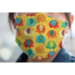 Cute Elephants Face Mask Cover (Personalized)