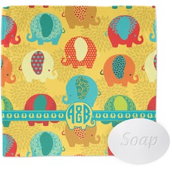 Cute Elephants Wash Cloth (Personalized)