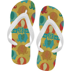 Cute Elephants Flip Flops (Personalized)