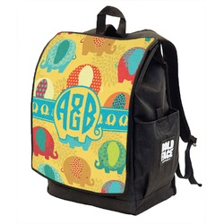Cute Elephants Backpack w/ Front Flap  (Personalized)
