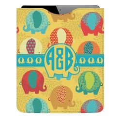 Cute Elephants Genuine Leather iPad Sleeve (Personalized)