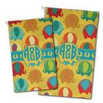Cute Elephants Golf Towel - Full Print w/ Couple's Names