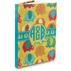 Cute Elephants Hardbound Journal (Personalized)