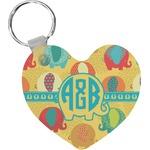 Cute Elephants Heart Keychain (Personalized)