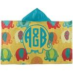 Cute Elephants Kids Hooded Towel (Personalized)