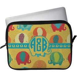 """Cute Elephants Laptop Sleeve / Case - 15"""" (Personalized)"""