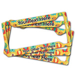 Cute Elephants License Plate Frame (Personalized)