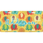 Cute Elephants Front License Plate (Personalized)
