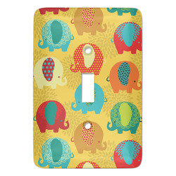 Cute Elephants Light Switch Covers - Multiple Toggle Options Available (Personalized)